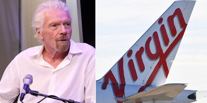 """Richard Branson warns Qantas would have a monopoly of the Australian skies"""" if government doesn't step in."""