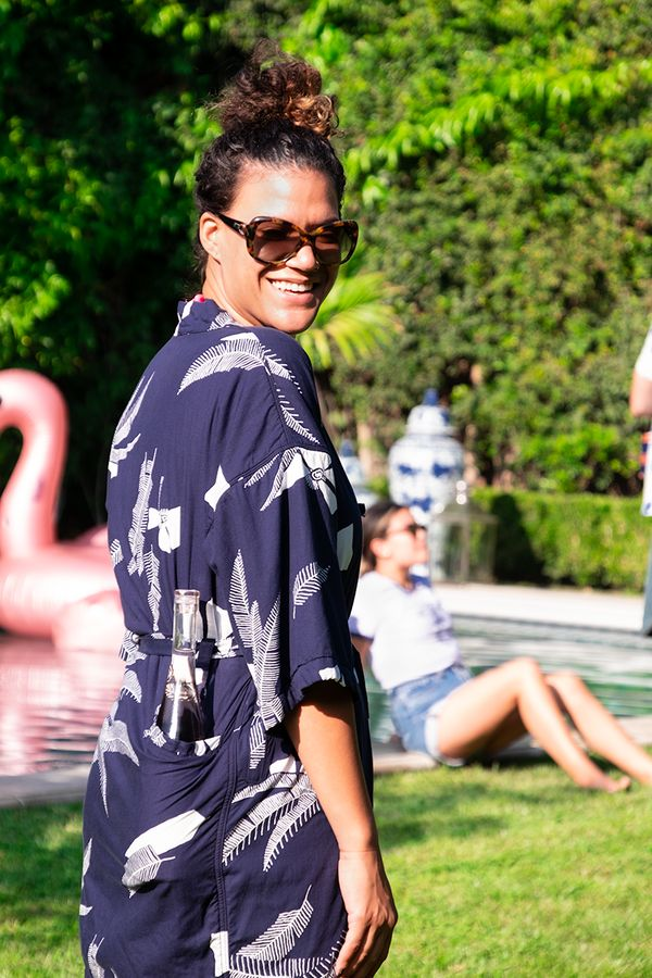 Sure, Mom will love wearing this stylish kimono around the house, pool or backyard. However, it's also utilitarian – it
