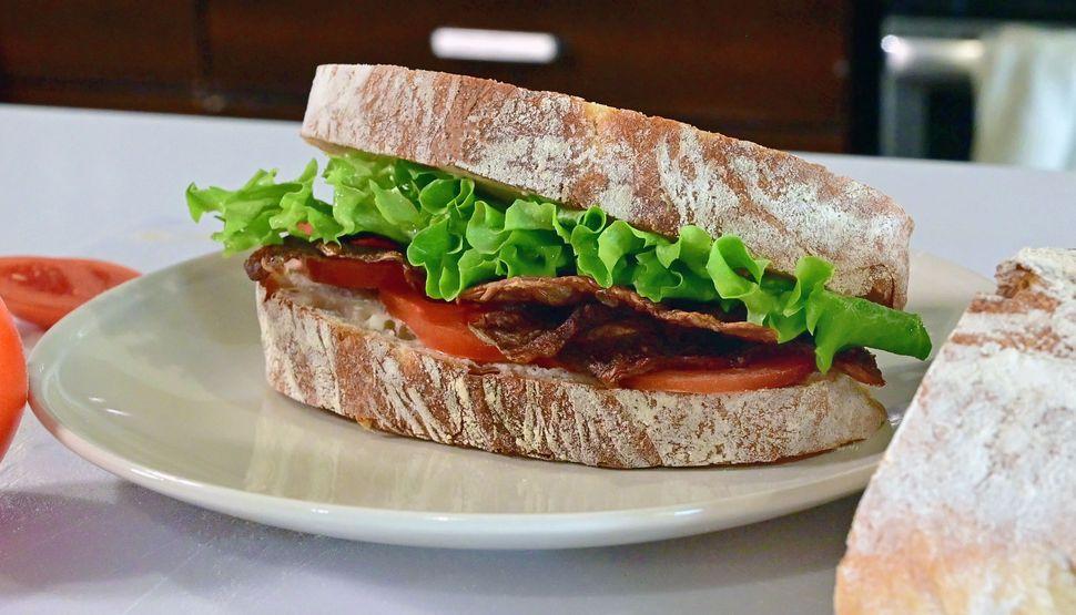 Ecovative's meat-free mycelium bacon.