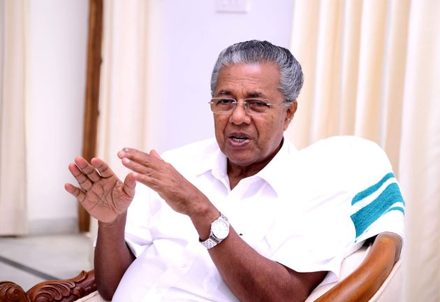 Chief Minister of Kerala Pinarayi Vijayan photographed in Delhi's Kerala