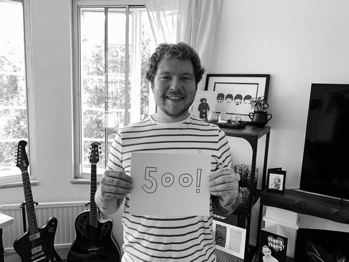 Ben Robinson celebrating 500 days sober.
