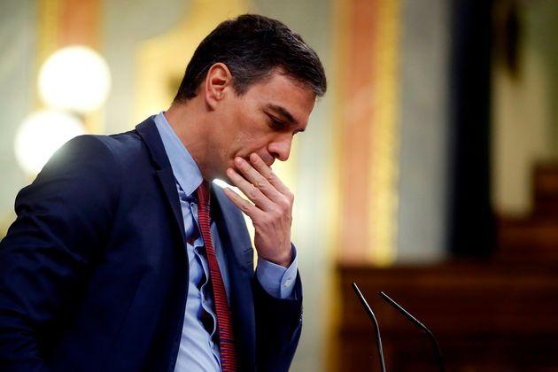 Pedro Sánchez, en el Congreso el 9 de abril de