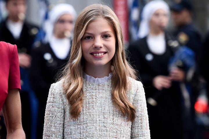 La infanta Sofía en la ceremonia de los premios Princesa de Asturias 2019.