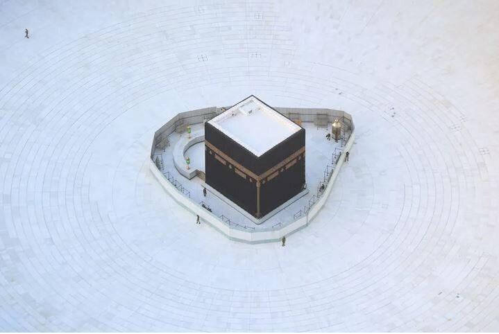 Αεροφωτογραφία από το Μεγάλο Τζαμί της Μέκκας, στις 6 Μαρτίου, 2020