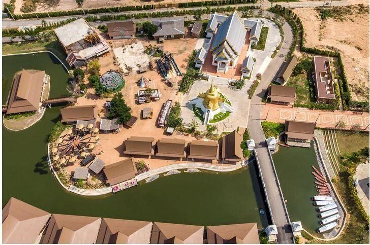 <br>Το άδειο θεματικό πάρκο Legend Siam στην Πατάγια στις 8 Μαρτίου 2020. Το πάρκο, το οποίο προσελκύει έως και 20.000 κόσμο, κυρίως Κινέζους την ημέρα, είναι προσωρινά κλειστό.