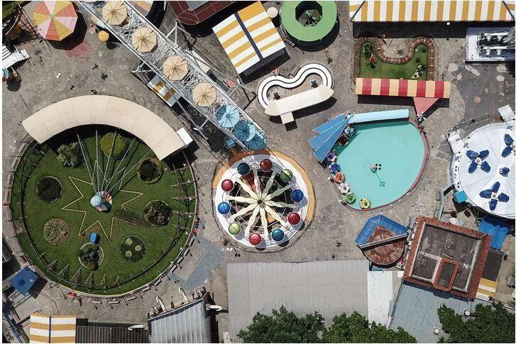 Το θεματικό πάρκο Γκουαναμπάρα, στο Μπέλο Οριζόντε, στην Βραζιλία, στις 5 Απριλίου, 2020.