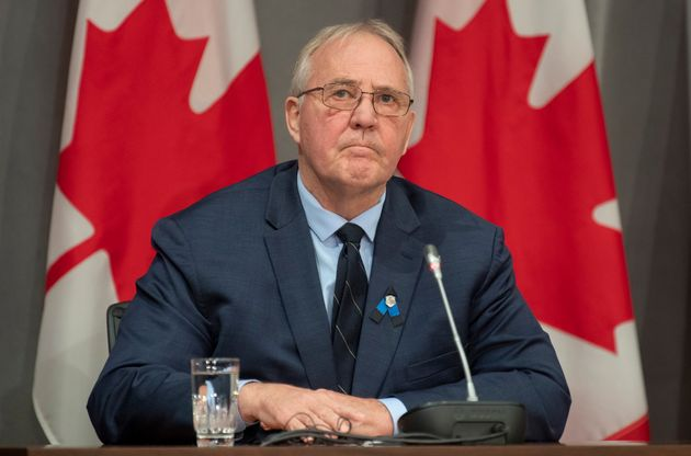 Public Safety Minister Bill Blair is seen during a news conference in Ottawa on April 20,