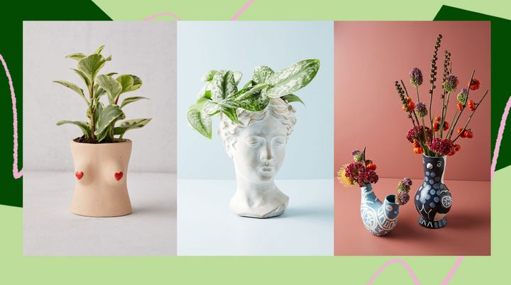 If you have a green thumb and a new indoor garden, these cute pots and planters will give all your plants a home.
