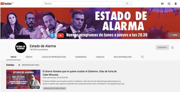 Canal de YouTube 'Estado de