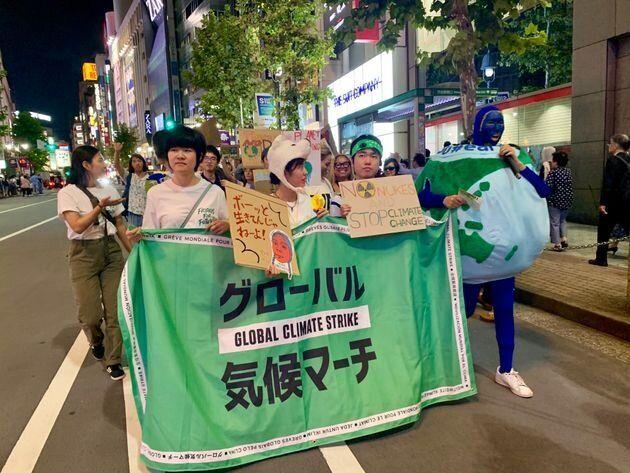 2019年9月に東京で行われたグローバル気候マーチの様子