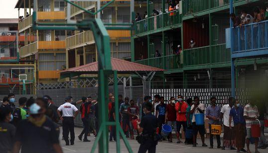 싱가포르 최대 코로나19 집단감염 벌어진 이주노동자 기숙사를