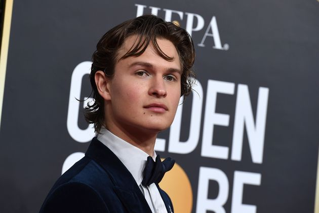 Ansel Elgort as we're more used to seeing him, at the Golden Globes in