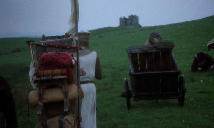 "A scene from ""Monty Python and the Holy Grail."""