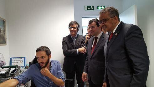 Martino Gliozzi (a sinistra) all'interno dell'Usf che coordina, con i rappresentanti