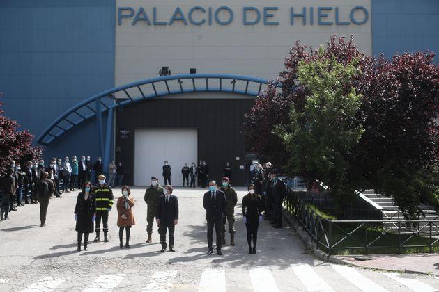 Visita del alcalde de Madrid, José Luis Martínez Almeida al Palacio de Hielo, una de las...