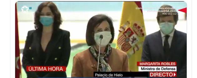 Margarita Robles, en el cierre de la morgue del Palacio de