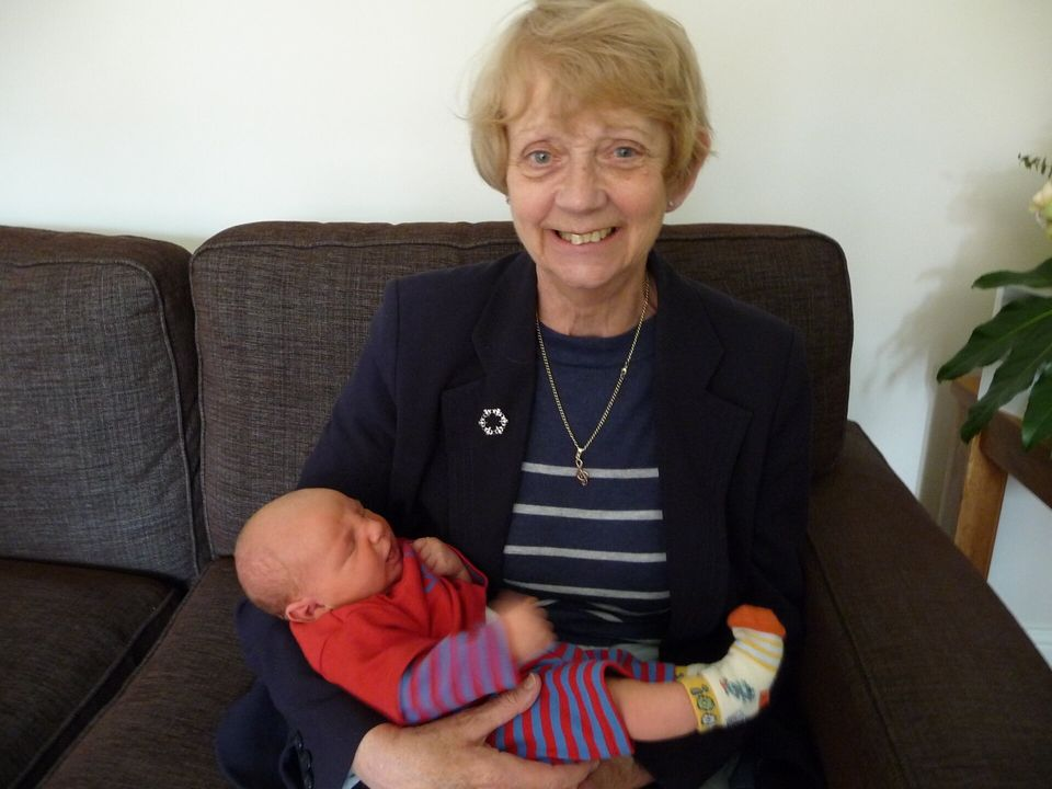 Jacqueline Varley with her grandson Archie