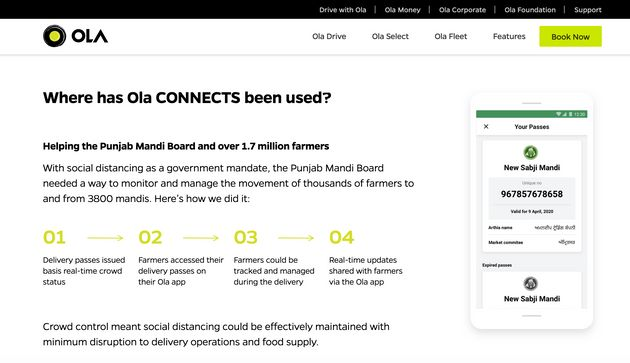 Ola has claimed on its official website that it is helping over 17 lakh farmers in Punjab to move in...