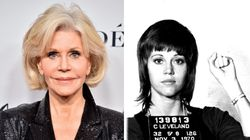Jane Fonda Shows Off Mug With Her Mug Shot On It In Hilarious '9 To 5'