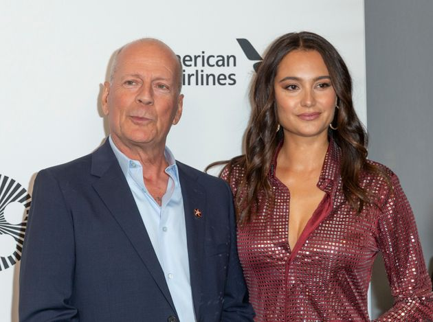 Bruce Willis and Emma Heming Willis at an event last