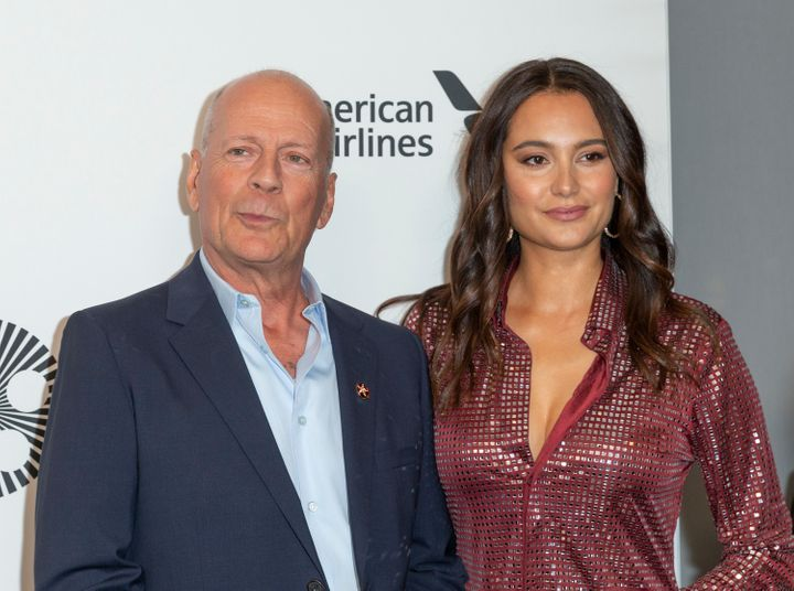 Bruce Willis and Emma Heming Willis at an event last year.