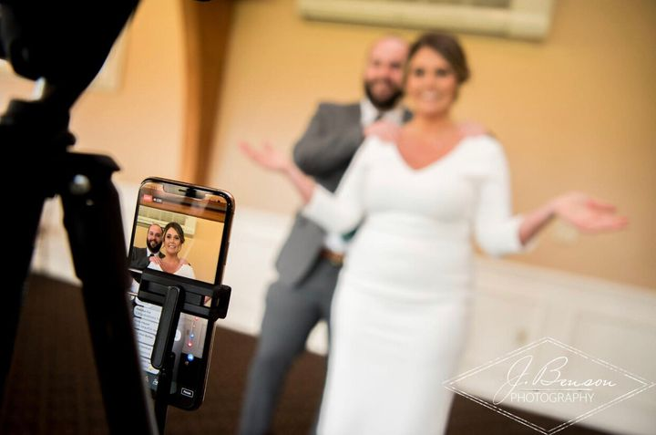 Taylor and Tom Ortolani tied the knot on April 10.