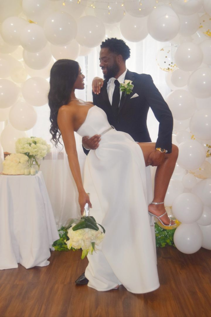 Abena and Ade celebrated their love with a virtual wedding on April 4.