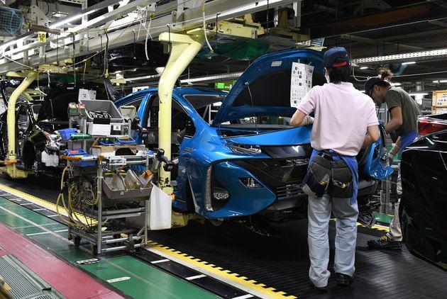 豊田市の自動車関連工場の様子
