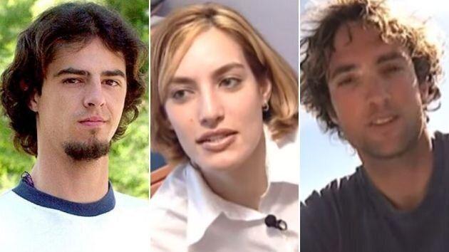 Koldo, Vanessa e Ismael, concursantes de la primera edición de 'Gran Hermano'.