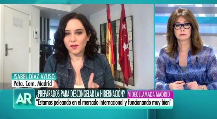Isabel Díaz Ayuso en 'El programa de Ana Rosa'.