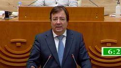 El emocionado discurso del presidente de Extremadura: