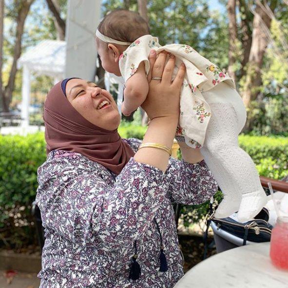 Amina Elshafei with her daughter, Aya