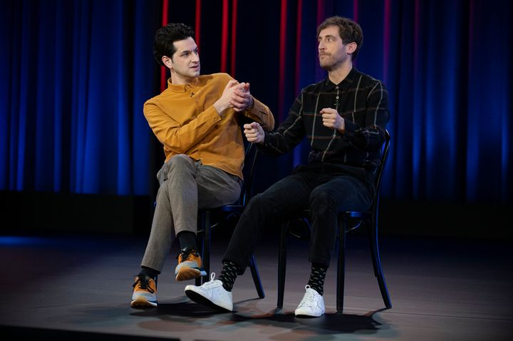 Ben Schwartz and Thomas Middleditch in their new comedy special.