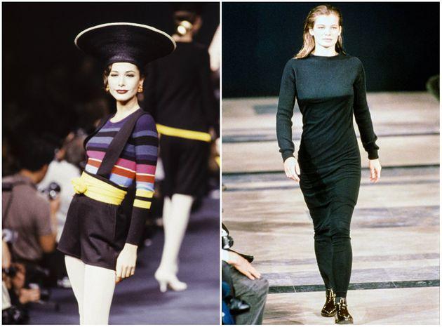 Sonia Rykiel (1989), à gauche. Helmut Lang (1989), à
