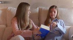 Los cuatro detalles más llamativos del vídeo de Leonor y Sofía leyendo 'El