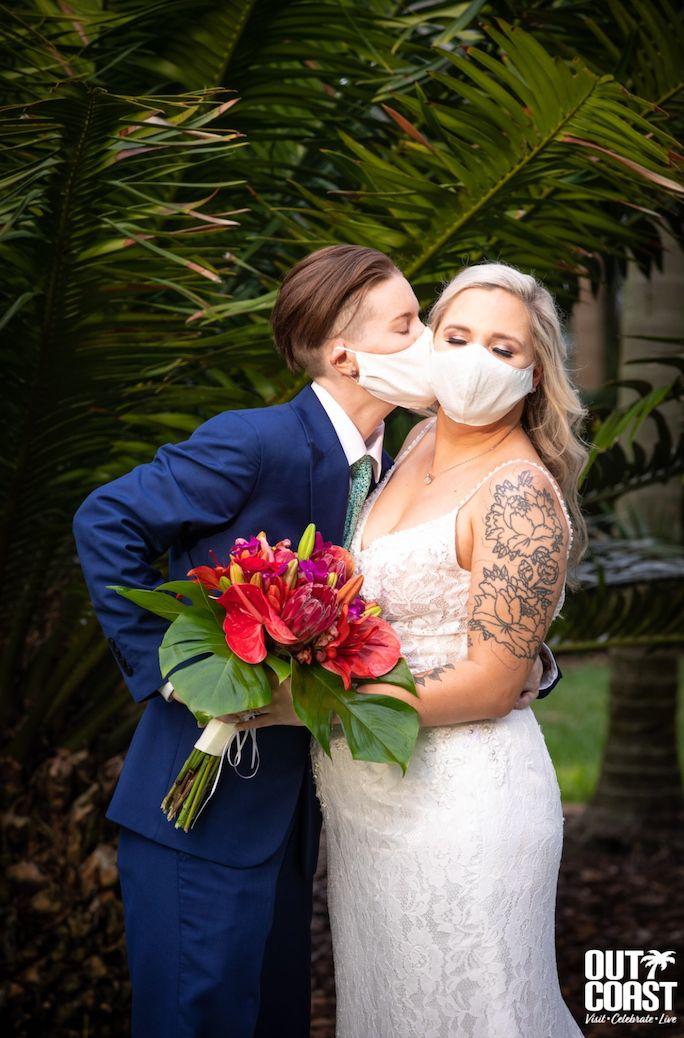 "Brittany and Jenna said ""I do"" onApril 18 inSaint Petersburg, Florida."