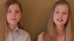 Leonor y Sofía mandan un mensaje a los jóvenes: