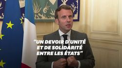 Macron plaide pour aider les régions d'Europe les plus touchées, mais ce n'est pas