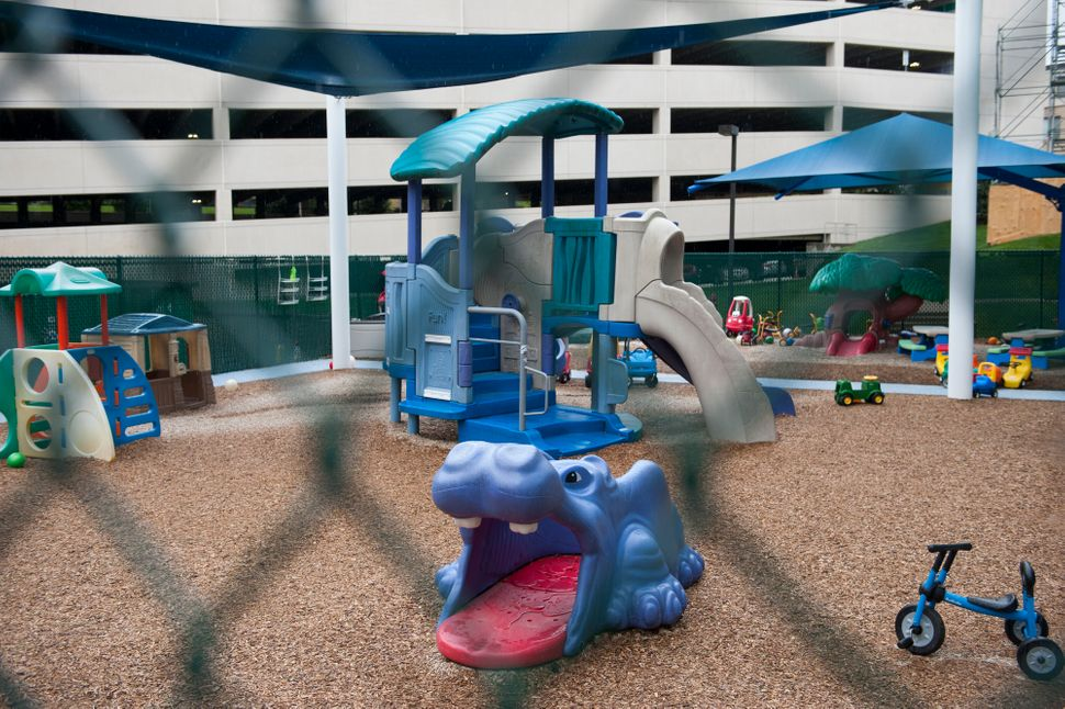 The owner of the Rock Spring Children's Center in Bethesda has gotten a loan, which buys him a few months during the closures