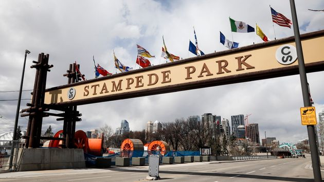 The Calgary Stampede park is shown in Calgary, Alta., April 23,