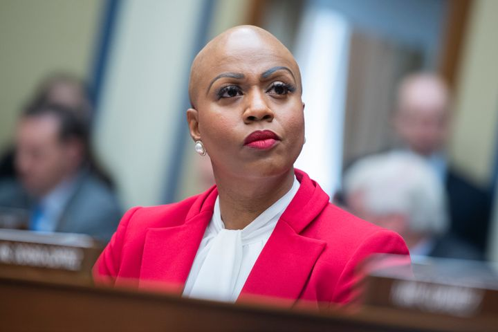 Rep. Ayanna Pressley (D-Mass.) voted for an interim COVID-19 relief bill on Thursday but is demanding a clear timeline on a v