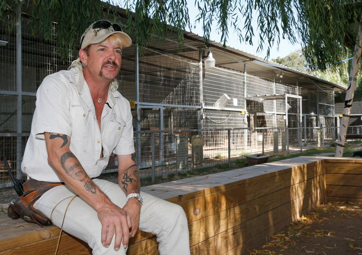 Joe Exotic, seen in this 2013 file photo, was convicted of murder-for-hire in a failed plot to kill Carole Baskin, the f