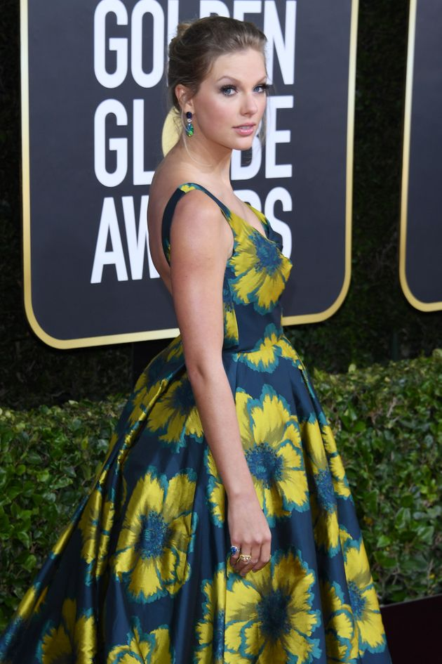 Taylor Swift at the Golden Globes in