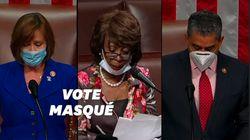 Masqué, le congrès américain approuve un nouveau plan d'aide de 500 milliards de