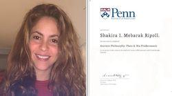 Maman à temps plein, Shakira a décroché son diplôme de philosophie