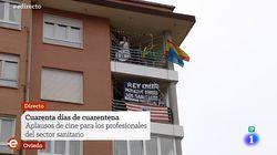 La pancarta sobre el rey emérito que se ha colado en TVE (y no precisamente