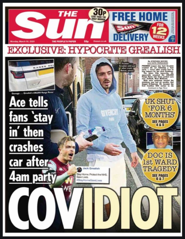The Sun front