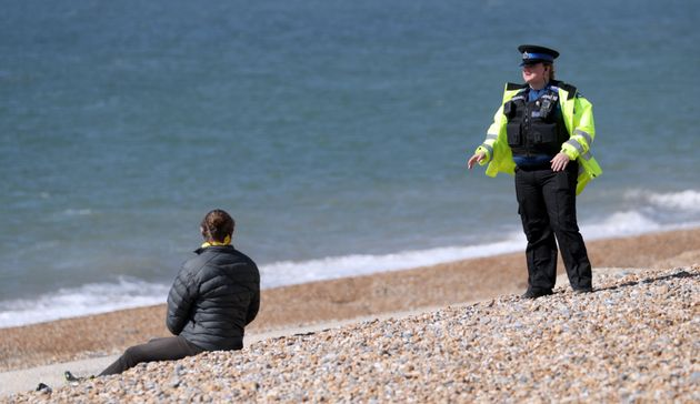 An individual is questioned on Brighton
