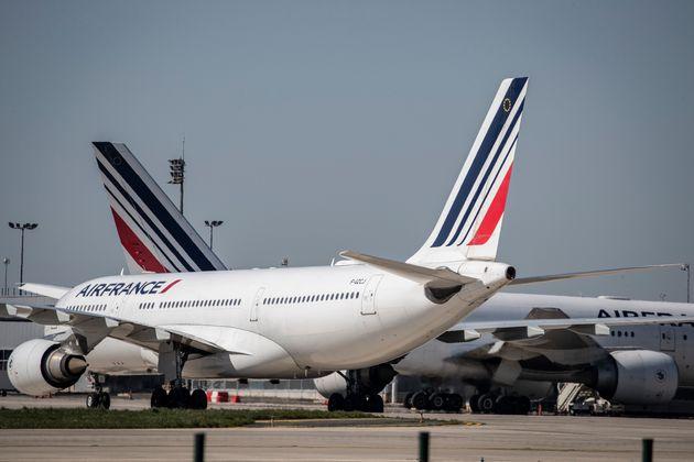 Des appareils d'Air France à l'aéroport Roissy-Charles De Gaulle le 24 mars