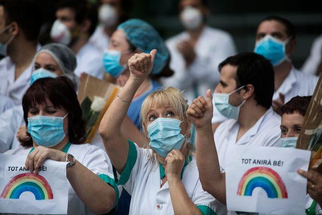 En Espagne, le bilan quotidien de l'épidémie de coronavirus à atteint son plus bas...